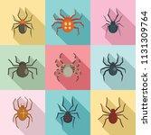 Arachnophobia Spider Web Icons...