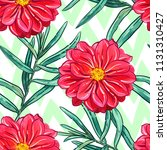 seamless pattern with flowers.... | Shutterstock .eps vector #1131310427