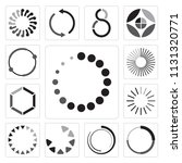 set of 13 simple editable icons ... | Shutterstock .eps vector #1131320771