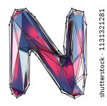 capital latin letter n in low... | Shutterstock . vector #1131321281
