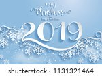 merry christmas greetings card... | Shutterstock .eps vector #1131321464