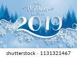 merry christmas greetings card... | Shutterstock .eps vector #1131321467