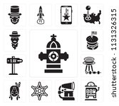 set of 13 simple editable icons ... | Shutterstock .eps vector #1131326315