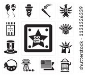 set of 13 simple editable icons ... | Shutterstock .eps vector #1131326339