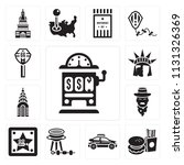 set of 13 simple editable icons ... | Shutterstock .eps vector #1131326369