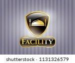 golden badge with special food ...   Shutterstock .eps vector #1131326579