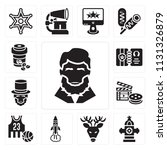 set of 13 simple editable icons ... | Shutterstock .eps vector #1131326879