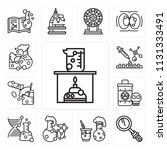 set of 13 simple editable icons ... | Shutterstock .eps vector #1131333491
