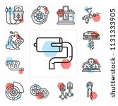 set of 13 simple editable icons ... | Shutterstock .eps vector #1131333905