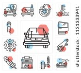 set of 13 simple editable icons ...   Shutterstock .eps vector #1131333941