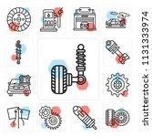 set of 13 simple editable icons ...   Shutterstock .eps vector #1131333974
