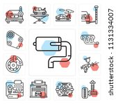 set of 13 simple editable icons ...   Shutterstock .eps vector #1131334007