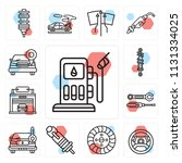 set of 13 simple editable icons ... | Shutterstock .eps vector #1131334025