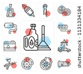 set of 13 simple editable icons ... | Shutterstock .eps vector #1131334184