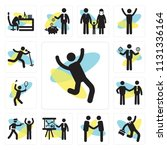 set of 13 simple editable icons ... | Shutterstock .eps vector #1131336164