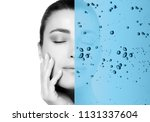 beauty concept with hydrating...   Shutterstock . vector #1131337604