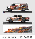 car decal  truck and cargo van... | Shutterstock .eps vector #1131342857
