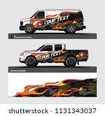 car decal  truck and cargo van... | Shutterstock .eps vector #1131343037