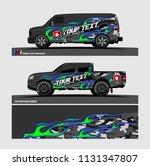 car decal design vector.... | Shutterstock .eps vector #1131347807