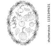 autumn harvest clipart set ... | Shutterstock .eps vector #1131349631