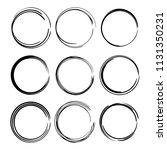 set of round grunge frames.... | Shutterstock .eps vector #1131350231