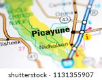 Small photo of Picayune. Louisiana. USA on a map