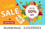 autumn sale banner with... | Shutterstock .eps vector #1131356321