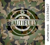 beautifully on camouflaged... | Shutterstock .eps vector #1131356627