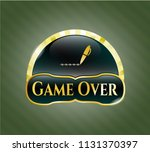 gold badge or emblem with... | Shutterstock .eps vector #1131370397