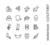 allergy and rhinitis symptoms... | Shutterstock .eps vector #1131371807