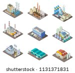 isometric factory set. 3d... | Shutterstock .eps vector #1131371831