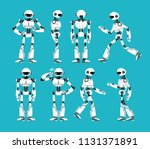 robot character. cartoon... | Shutterstock .eps vector #1131371891