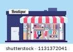 fashion store exterior. beauty... | Shutterstock .eps vector #1131372041