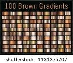 vector set of gradients  brown  ... | Shutterstock .eps vector #1131375707