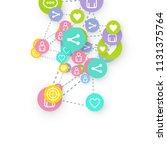 social media marketing ... | Shutterstock .eps vector #1131375764