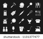 kitchenware silhouette icons... | Shutterstock .eps vector #1131377477