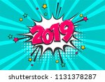 2019 happy new year christmas... | Shutterstock .eps vector #1131378287
