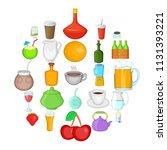 boozing icons set. cartoon set...   Shutterstock .eps vector #1131393221