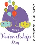 happy friendship day. above the ...   Shutterstock .eps vector #1131393995
