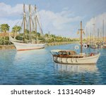 An Oil Painting On Canvas Of...