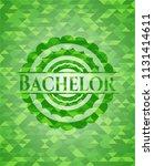 bachelor green emblem with...   Shutterstock .eps vector #1131414611