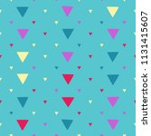 seamless pattern with triangles ... | Shutterstock .eps vector #1131415607