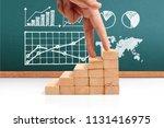 hand liken business person... | Shutterstock . vector #1131416975