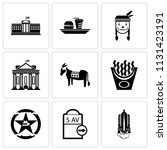 set of 9 simple editable icons... | Shutterstock .eps vector #1131423191