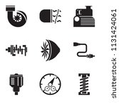 set of 9 simple editable icons... | Shutterstock .eps vector #1131424061