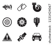 set of 9 simple editable icons... | Shutterstock .eps vector #1131424067