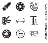 set of 9 simple editable icons...   Shutterstock .eps vector #1131424091