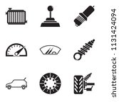 set of 9 simple editable icons...   Shutterstock .eps vector #1131424094
