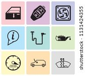 set of 9 simple editable icons... | Shutterstock .eps vector #1131424355