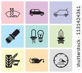 set of 9 simple editable icons...   Shutterstock .eps vector #1131424361